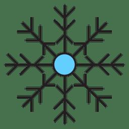 Snowflake cartoon icon 48