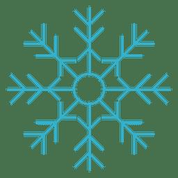 Flaches Symbol der Schneeflocke 70