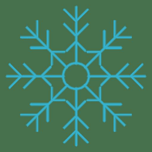 Flaches Symbol der Schneeflocke 70 Transparent PNG