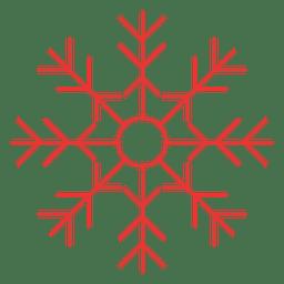 Copo de nieve plano icono rojo 08