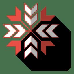 Icono de sombra plana gota de copo de nieve 82