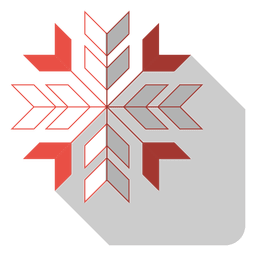 Snowflake flat drop shadow icon 82