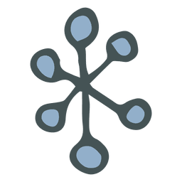 Snowflake hand drawn cartoon icon 13