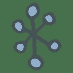 Snowflake hand drawn cartoon icon 13
