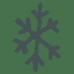 Icono de dibujos animados dibujados a mano copo de nieve 27