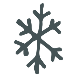 Snowflake hand drawn cartoon icon 27