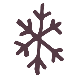 Snowflake hand drawn icon 24