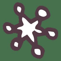 Snowflake hand drawn icon 40