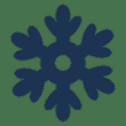 Icono de silueta de copo de nieve 63