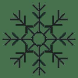 Icono de trazo de copo de nieve 52