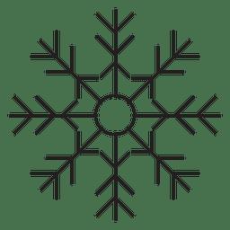 Icono de trazo de copo de nieve 82