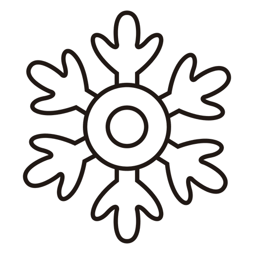 Snowflake stroke icon winter weather snow.svg Transparent PNG