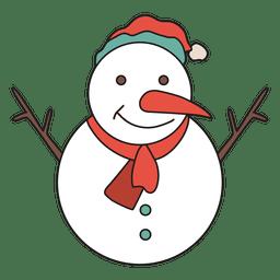 Ícone dos desenhos animados de boneco de neve 32