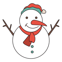 Icono de dibujos animados de muñeco de nieve 32