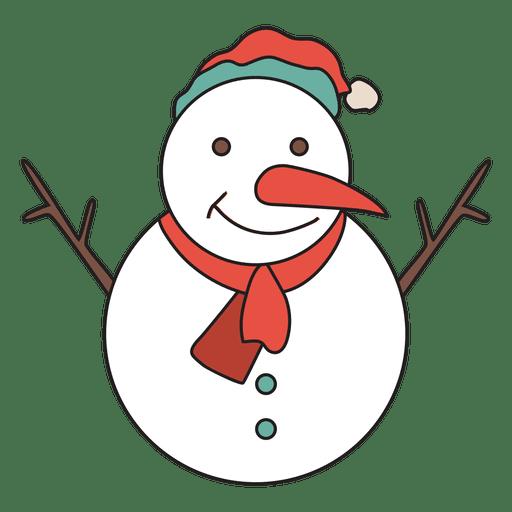 ícone Dos Desenhos Animados Do Boneco De Neve 32