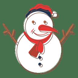 ícone dos desenhos animados do boneco de neve 72