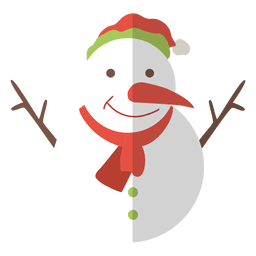 Snowman flat icon 10