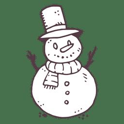 Boneco de neve mão desenhada ícone 4
