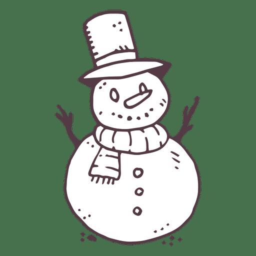 Snowman hand drawn icon 4