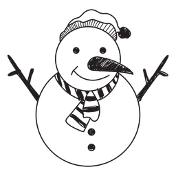 Boneco de neve mão desenhada ícone 58