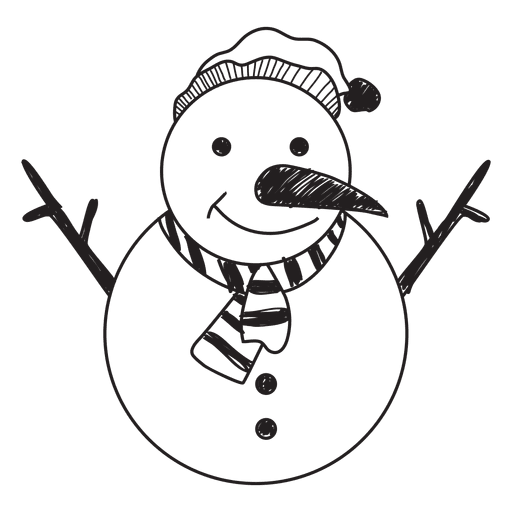 Snowman hand drawn icon 58 Transparent PNG
