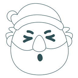 Olho de papagaio emoticon de papai noel verde 35