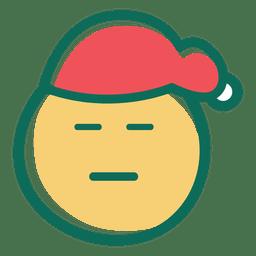 Schielendes Auge Weihnachtsmann-Hutgesicht Emoticon 26