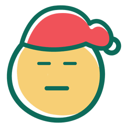 Squint eye santa claus hat face emoticon 26