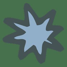 Icono de caricatura de estrella ráfaga dibujado a mano 28