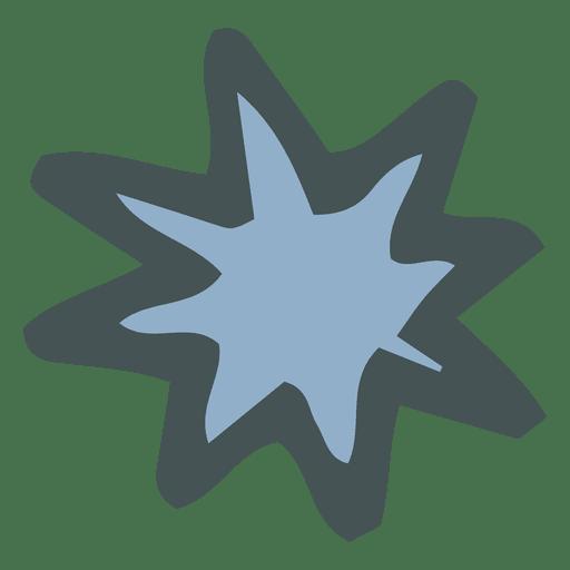 Star burst hand drawn cartoon icon 28 Transparent PNG