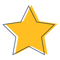 Star cartoon icon 34