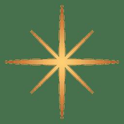 Estrella explosión oro 10