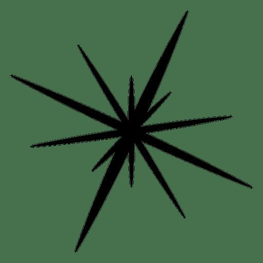 Star explosion silhouette icon 10