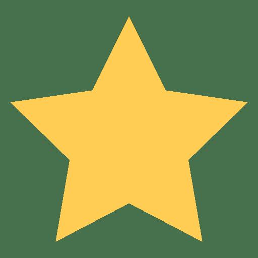 Ícone plano de estrela 68