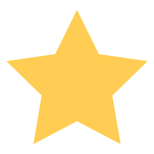Star flat icon 68 Transparent PNG