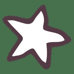 Ícone desenhado à mão estrela 11