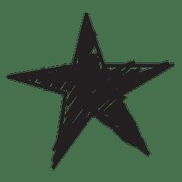 Ícone desenhado à mão estrela 56