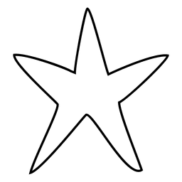 Star hand drawn stroke icon 01
