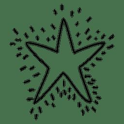 Ícone de traçado desenhado estrela mão 02
