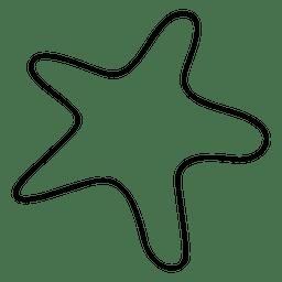 Star hand drawn stroke icon 04