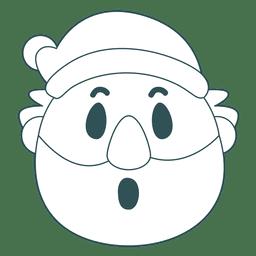 Surpresa emoticon de papai noel 29