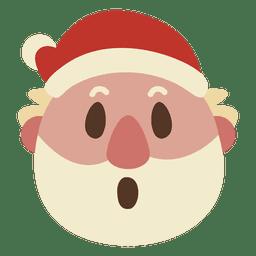 Surpresa emoticon de cara de papai noel 57