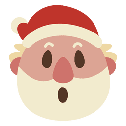 Surprise santa claus face emoticon 57