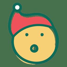 Surpresa emoticon de cara de chapéu de Papai Noel 28