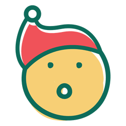 Surprise santa claus hat face emoticon 28