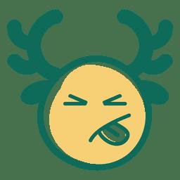 Língua para fora emoticon de cara de chifre 37