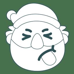Zunge heraus Weihnachtsmann-Grün-Anschlag Emoticon 38