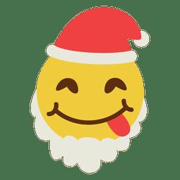 Tongue santa claus emoticon 3