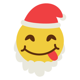 Zunge Weihnachtsmann Emoticon 3