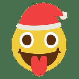 Tongue santa claus face emoticon 9